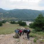 国境スキ-場を登る