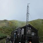 駒の小屋と山頂