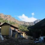 赤岳鉱泉から八ヶ岳の稜線