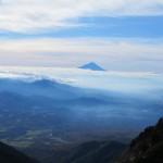 八ヶ岳より富士山